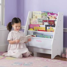 One Step Ahead Kids Sling Bookshelf With Storage Bins White For Only 6396