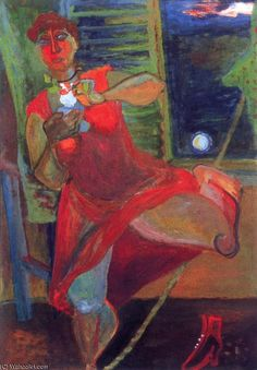 Walking On The Thightrope by Margit Anna (1913-1991, Hungary)
