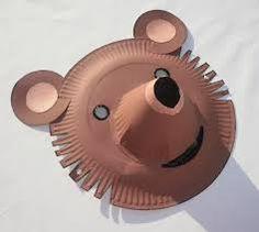 masque d'ours avec assiette en carton -