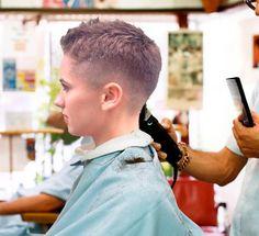 lovely barbershop cut