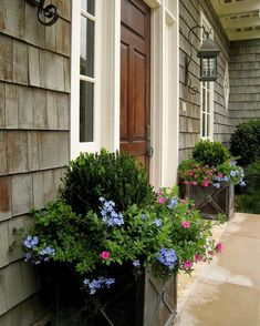 Front Porch Planters... #BoxwoodLandscape