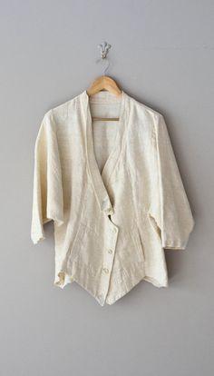 Raw Silk kimono sleeve jacket / avant garde silk by DearGolden