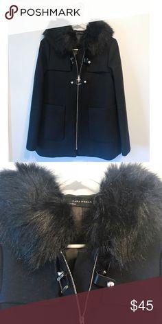 Zara coat size:s New with tag, Zara coat with hood, 72% wool Zara Jackets & Coats Pea Coats