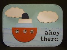 Greeting card for a male with sailing theme