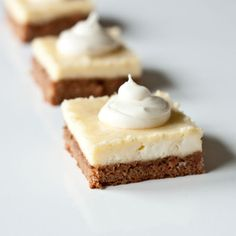 Carrot cake cheesecake bars. Carrot cake is my favorite cake...mixing it with cheesecake - perfection!