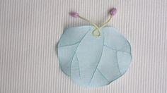 모시연잎받침 / 하늘색