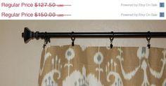 Spring SALE  Spring Sale Set of 2 Drapery by elisabethmichael, $102.00