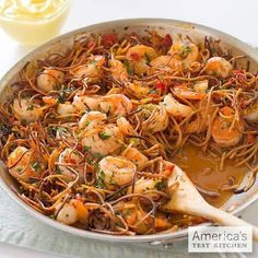 Spanish-Style Toasted Pasta with Shrimp - http://www.cooksillustrated.com/recipes/detail.asp?showFullSite=true=37535