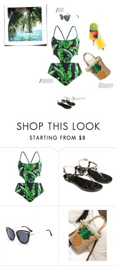 """""""Beach attire"""" by stellina-from-the-italian-glam ❤ liked on Polyvore"""