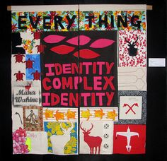 Identity Complex Identity (An homage to Aotearoa) by Ema Tavola Tracey Emin Art, Quilting Projects, Art Projects, Textiles, Scrapbook, Art Google, Word Art, Zine, Textile Art