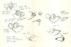 basil the great mouse detective model sheet - Google Search