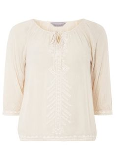 Petite embellished gypsy top