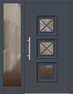Haustüren mit seitenteil anthrazit  Aluminium Haustür Modell 217-15 anthrazitgrau mit Seitenteil links ...