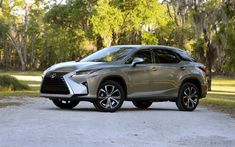 Download wallpapers Lexus RX 350, 2017, 4k, silver RX, future design, crossovers, new cars, Japanese cars, Lexus