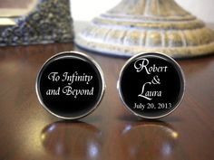 Personalized Cuff Links  To Infinity and by NowThatsCharming, $18.99