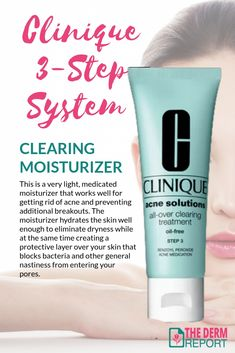 Clinique 3 Step Acne Cleanser Clarifying Lotion Clearing Moisturizer Acne Moisturizer Acne Treatment Daily Natural Skin Care Routine
