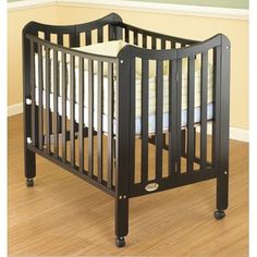 portable crib with wheels from wayfair.com; comes with own mattress
