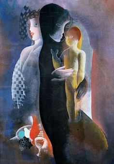 Béla Kádár - Mother and Child & Still Life 1934