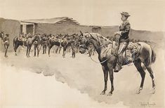 Frederic Sackrider Remington was an American painter, illustrator, sculptor and writer who specialized in depictions of the American Old West. Art Prints For Sale, Fine Art Prints, Frederic Remington, Animal Art Prints, Old West, Western Art, Giclee Print, Westerns, Camel