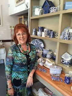 We had a special visitor @ Enchanted on Friday. Susan Hughes, a well known Interior Designer from JHB, joined us for the morning as we unpacked our gorgeous Burleighware pottery! Thanks Susan - it was a delight to have you visit. Watch this space for more info. Have a Happy Monday everyone!! Watch This Space, Happy Monday, Enchanted, Friday, Pottery, Interior, Blue, Tops, Design