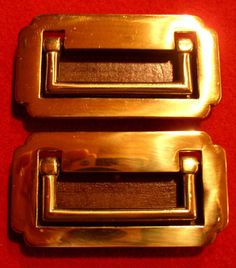 Nickel Recessed Campaign Handles Solid Brass With A
