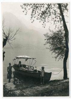 BARCA AL LAGO (SUVIANA ?? BOLOGNA) Foto d Epoca Old Photo 1936 Vintage F249