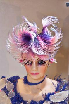 Nice High Fashion Hair, Weird Fashion, Competition Hair, Avant Garde Hair, Edgy Hair, Work Hairstyles, Hair Shows, Crazy Hair, Bad Hair