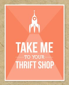 "8"" x 10"" Art Print - Take Me to Your Thrift Shop UFO. $25.00, via Etsy."