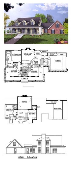 Farmhouse Style COOL House Plan ID: chp-2029 | Total Living Area: 2656 sq. ft…