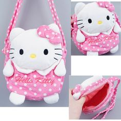 Hello Kitty Doll Tote Bag Cute Cross Child Gift Plush Item Pink Shoulder Purse