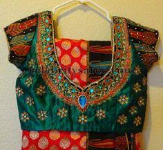 Hand Work Silk Designer Blouses