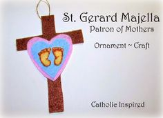 """Margaret Mary Craft {Liturgical Ornament}"""" plus 1 more - Inbox - Yahoo Mail Catholic Crafts, Catholic Kids, Ornament Crafts, Felt Ornaments, St Gerard Majella, Ccd Activities, Prayer Pictures, Respect Life, All Saints Day"""