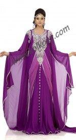 Classy Purple Color #Designer #Arabic #Kaftan #Dress