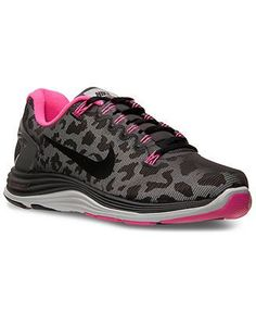 6d06e28bff1 Nike Lunarglide+ 5 Shield Womens sz Running Shoes Leopard Black Pink 615980  006 in Clothing