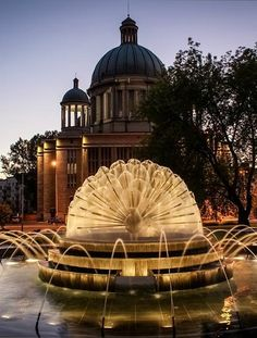 Fountain, Lodz Poland