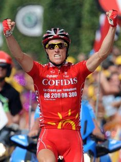 Sylvain Chavanel (Cofidis) won his first Tour de France stage in 2008