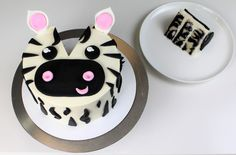 By popular demand, the next addition to my animal cake series is a Zebra! I used vanilla and black chocolate cake bases to make striped cake layers, vanilla buttercream, and some fondant to create …