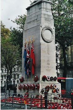 Cenotaph London on Remembrance Day