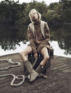 Anja Rubik by Lachlan Bailey for Vogue Paris October 2014.