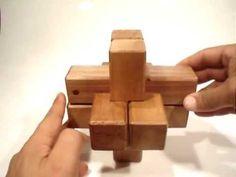 cruz de malta wooden puzzle - YouTube