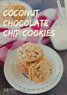 Once you get these coconut chocolate chip cookies into the oven, you'll begin to smell the magic of the coconut!  #themelrosefamily #coconutchocolatechip #coconutchocolatechipcookies #coconutchocolatechipcookies  #newrecipe #healthytreat #healthyrecipe #healthymeal #buzzfeedfood  #tastytasty #todayfood