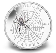 Fine Silver Coin - Animal Architects: Spider and Web Coining, Canadian Coins, Foreign Coins, Gold And Silver Coins, Mint Coins, Coins For Sale, Silver Bullion, World Coins, Rare Coins