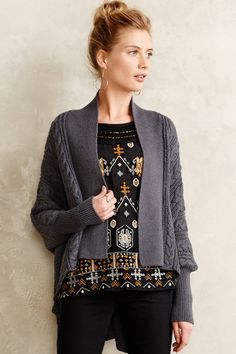 Braided Cable Cardigan - anthropologie.com