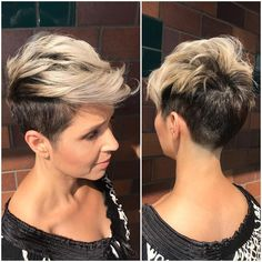 Trendy Messy Frisuren für kurzes Haar, Frauen Short Haircut Ideen