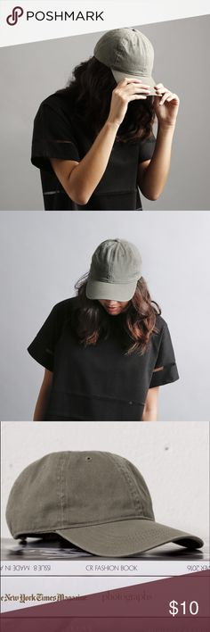 Olive Green Hat Hats are trending! Adjustable fitting in the back. Hope you love it as much as we do! -xo Accessories Hats