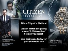 """""""Win a trip of a Lifetime!"""" I entered to win. Simply click enter now and fill in your details for your chance to win £3,000 worth of holiday vouchers!"""