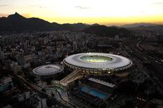 Estádio Jornalista Mário Filho - Maracanã - por Fernandes Arquitetos Associados: http://www.galeriadaarquitetura.com.br/fernandes-arquitetos-associados_/estadio-jornalista-mario-filho-maracana/80