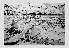 """Fukushima Daiichi"" (c) Cédric Bescond 2015 - 65x45 - Encre #art #Bretagne #Brest - #FineArt #Brittany #French #artist -#Fukuschima  #Daiichi -https://www.facebook.com/Bescond.Cedric/photos/a.527142303999126.1073741829.527124094000947/963628740350478/?type=3"