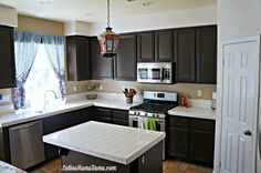 How to refinish your kitchen cabinets.
