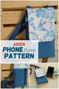 This super cool diy phone case you can make from fabric and use either as a phone bag ort a minimalistic crossbody bag - your best mini everyday bag. Get your pattern now and check out what pattern testers said about it! #diyphonecase #phonebagpattern #diyphonesleeve #cellphonepurse Sewing Hacks, Sewing Tutorials, Sewing Projects, Tote Pattern, Purse Patterns, Diy Friendship Bracelets Patterns, Diy And Crafts Sewing, Contemporary Quilts, Diy Phone Case